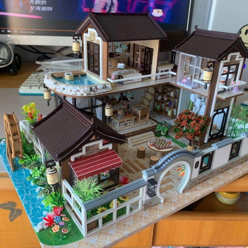 DIY木质模型小屋,送给男盆友的创意圣诞节礼物