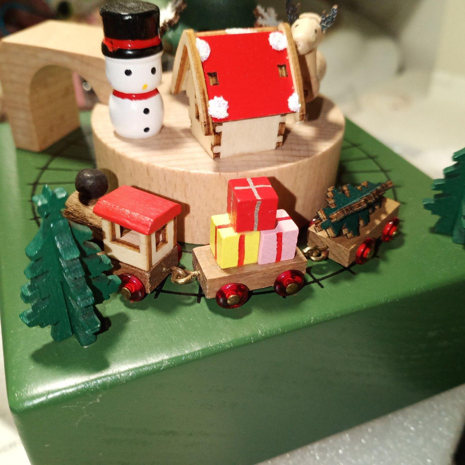 创意十足的木质八音盒送女朋友,这个圣诞节太甜蜜了