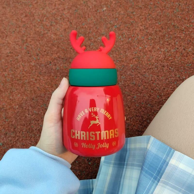 实用的情侣麋鹿保温杯送女友的圣诞节好礼