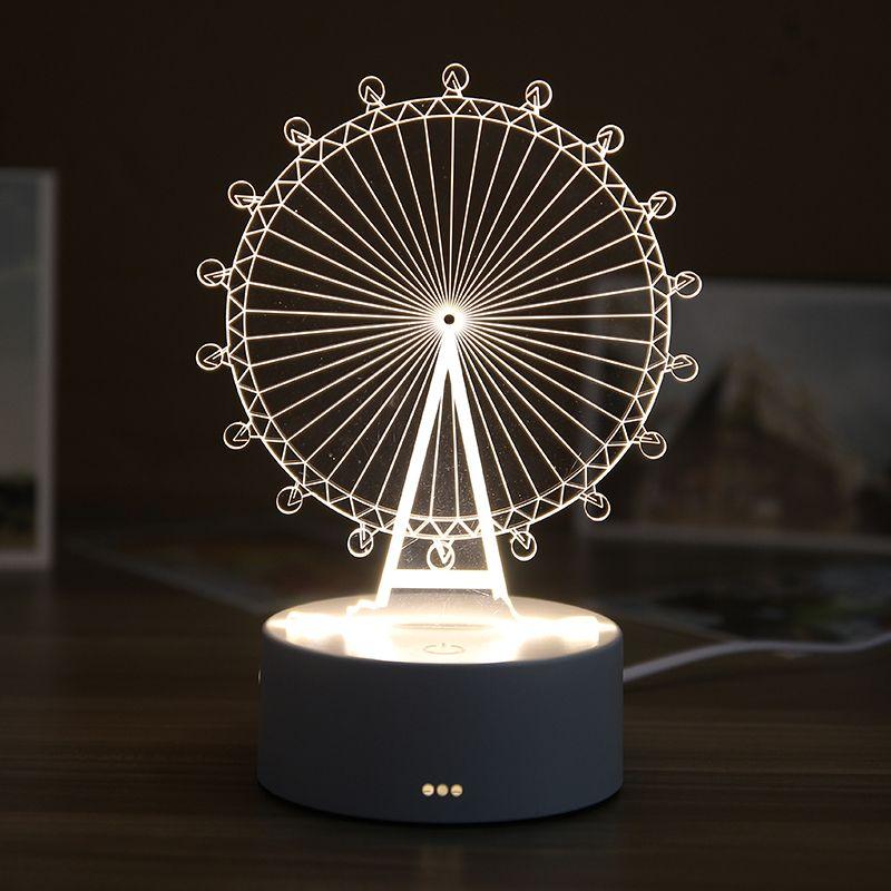 唯美的3D实木质小夜灯,圣诞节送男盆友的创意好物