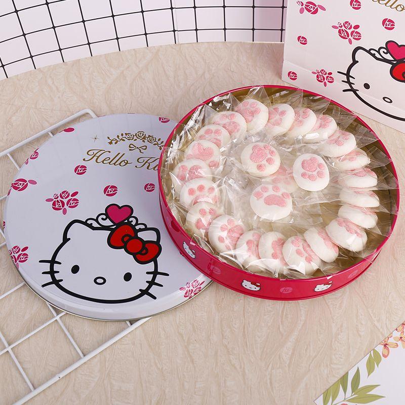 圣诞节送我家小仙女这款高颜值好吃的KT猫猫爪棉花糖