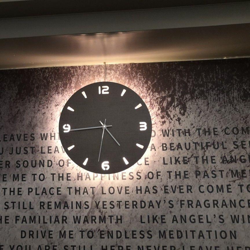 圣诞节送这款高颜值挂钟给男朋友,亮起来的瞬间我爱了