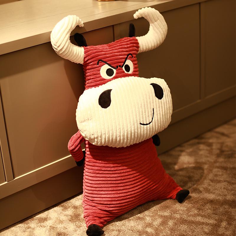 送小侄女的创意春节礼物,敲可爱的生肖牛魔王抱枕