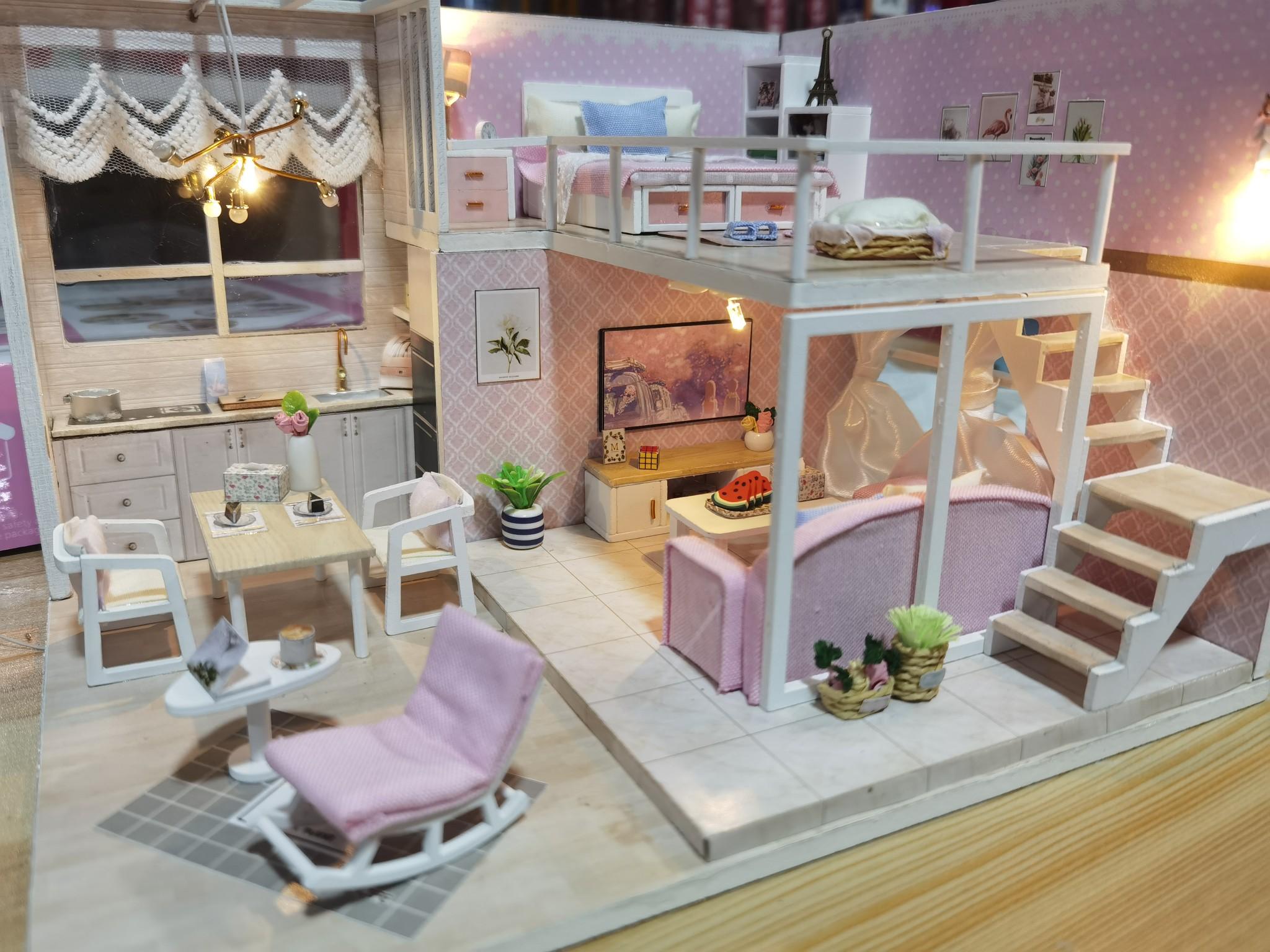 送女盆友的创意生日礼物,diy手工*房子模型