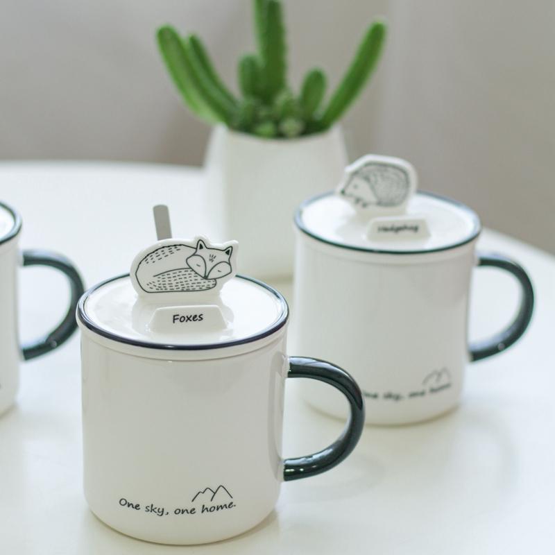 森林动物手机支架陶瓷杯,儿子送我的创意母亲节礼物