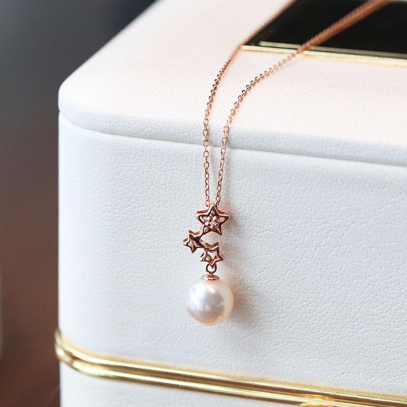 高颜值的母亲节礼物,星缘系列珍珠吊坠送妈妈的礼物