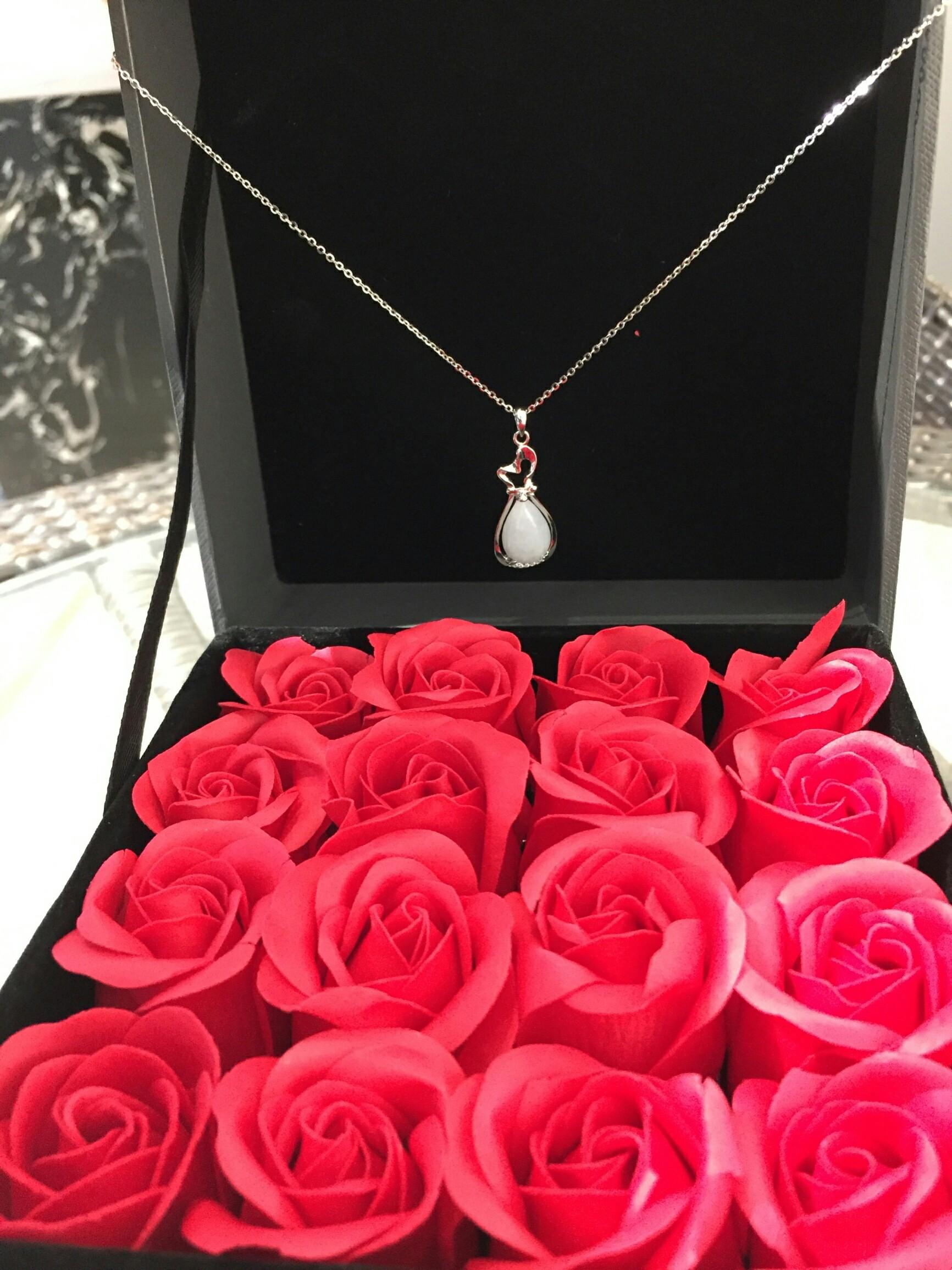 水滴福袋纯银饰吊坠,送妈妈的高颜值母亲节礼物