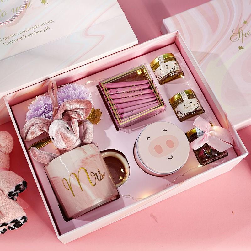 少女心满满的保温杯礼盒,送妈妈的创意母亲节礼物