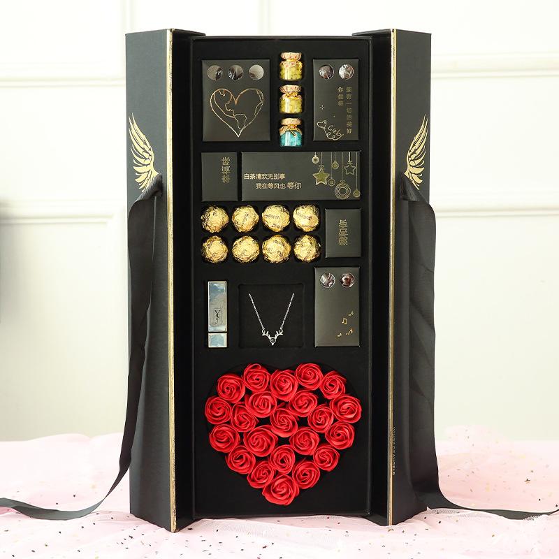 敲浪漫的天使之翼巧克力礼盒,520男友送我的惊喜礼物