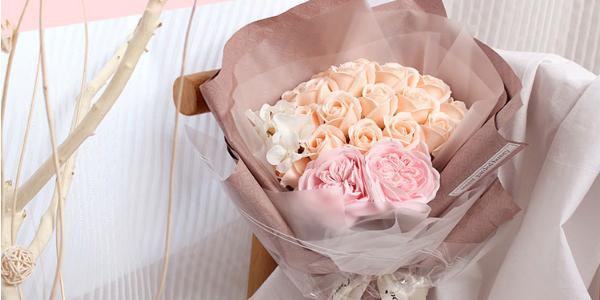 清新淡雅仿真高颜值香皂玫瑰花  梦幻般的浪漫