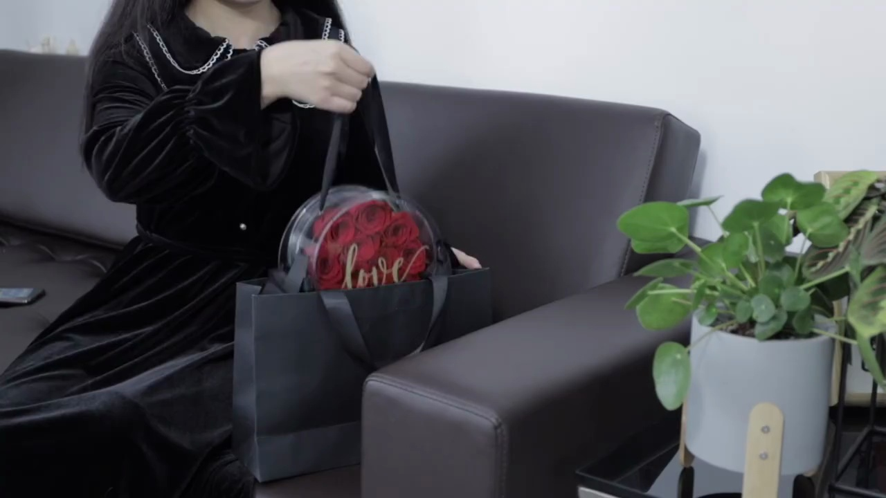 创意亚克力蜜糖盒永生花,生日送女盆友的浪漫好物