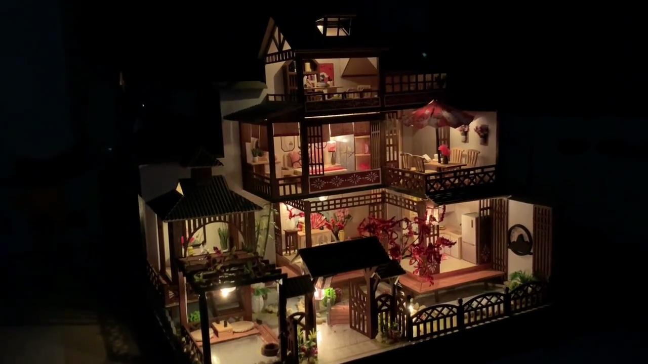 雅泉庭木质diy手工小屋,送女朋友的520创意礼物
