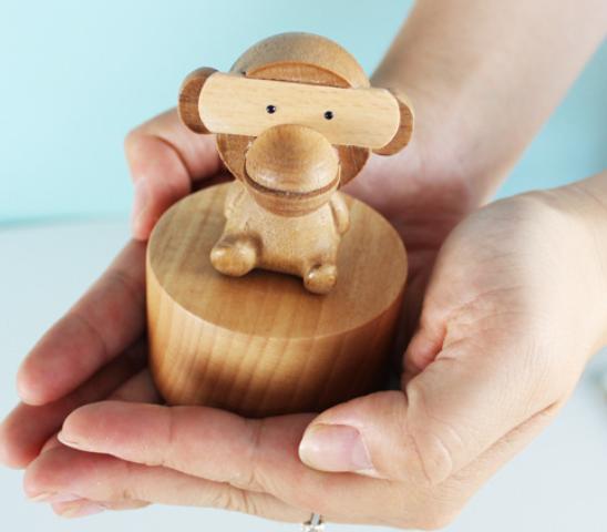 萌萌哒小猴子音乐盒